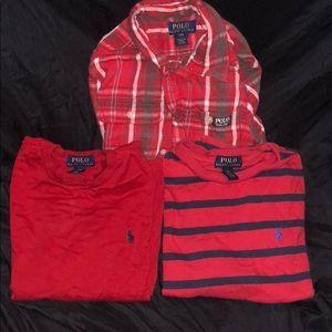 Bundle Ralph Lauren long sleeve shirts boy 8
